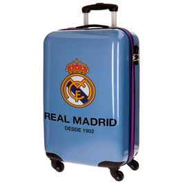 Maleta Trolley ABS Real Madrid One Color One Club azul 4r 55cm