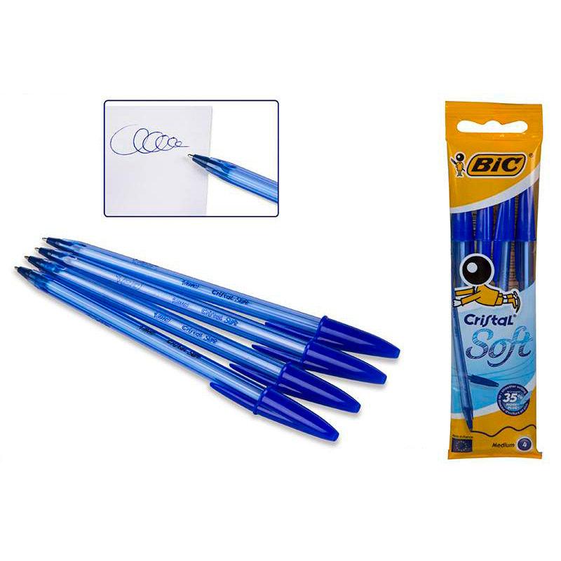 Bolsa De Festa Azul Bic : Bolsa boligrafos bic cristal soft azul ociostock