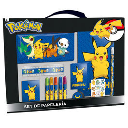 Set papeleria Pokemon Pikachu 20 pzs
