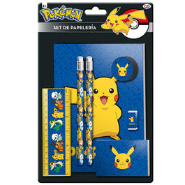 Set papeleria Pokemon Pikachu 7 pzs