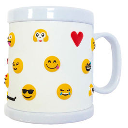 Taza Emoticonworld rubber 3D blanca