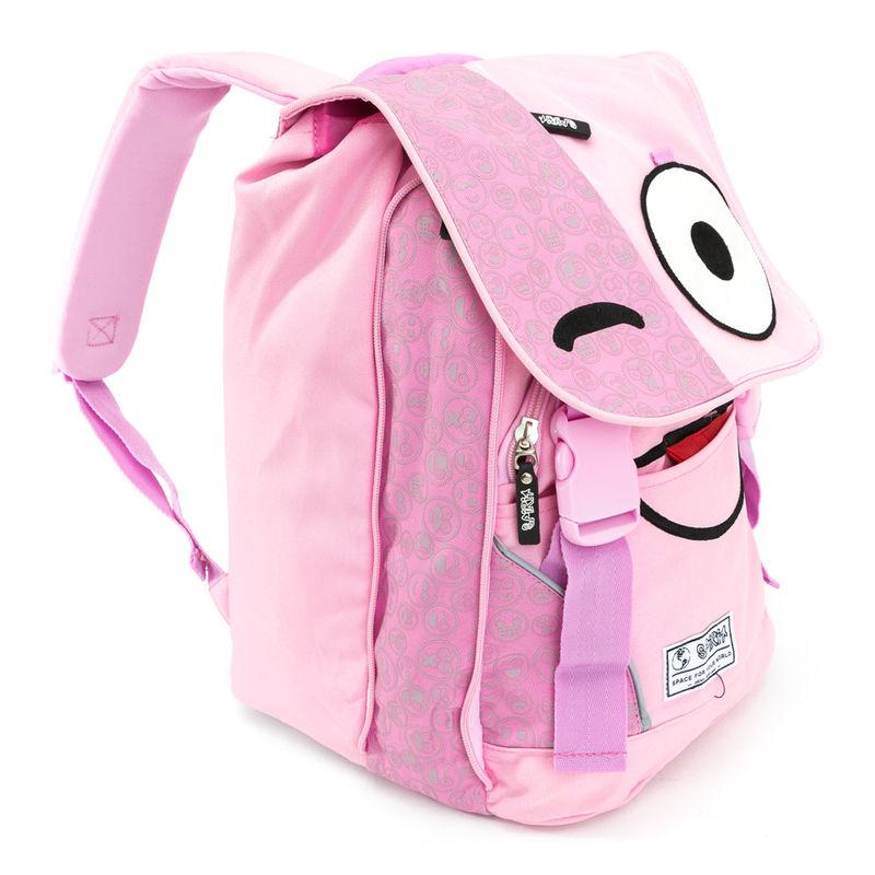 Mochila Spirit Emoticons Pink solapa