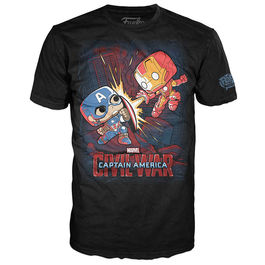 Camiseta POP Tee Capitan America Civil War Marvel