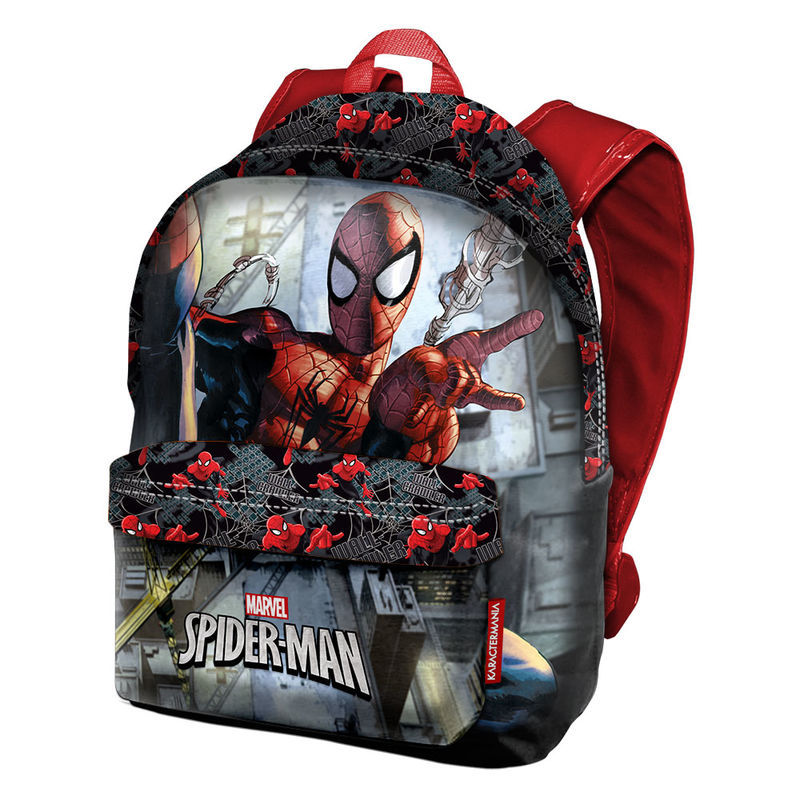 Mochila-Freetime-Spiderman-Marvel-Dark-42cm-Nuevo-Original