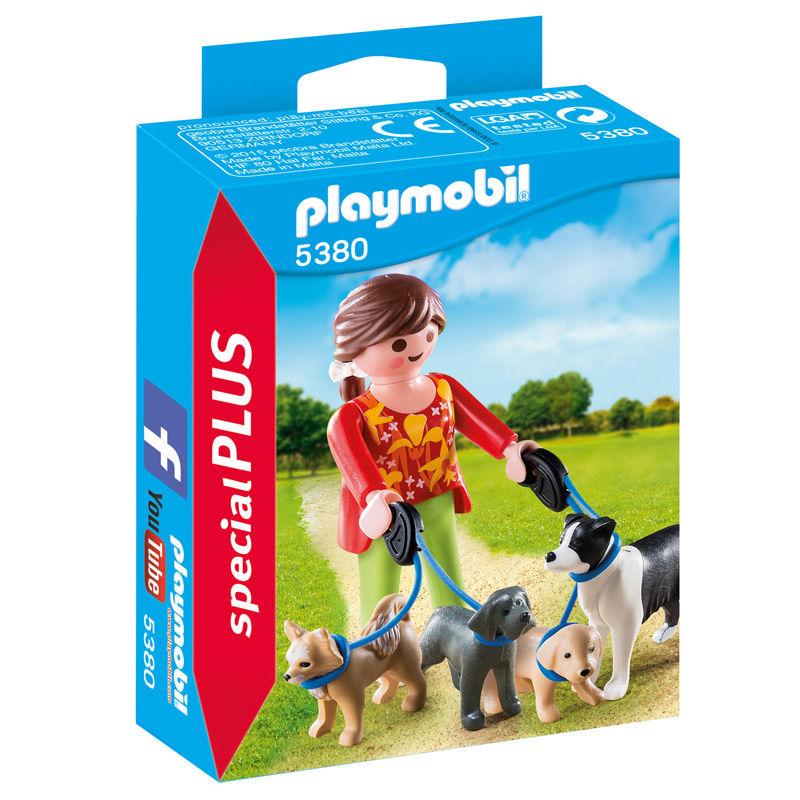 Mujer con Perros Playmobil Special Plus