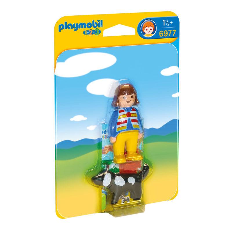 Mujer con Perro Playmobil 1.2.3