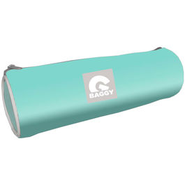 Baggy Turquoise cylindrical pencil case