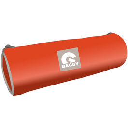 Baggy Orange cylindrical pencil case