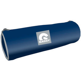 Baggy Marine blue cylindrical pencil case