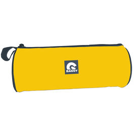 Baggy Yellow cylindrical pencil case