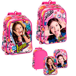 Mochila Soy Luna Disney Surprise 43cm adaptable