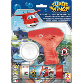 Superwings bubble gun + bottle bubbles