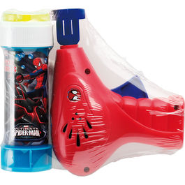 Pistola burbujas + pompero Spiderman