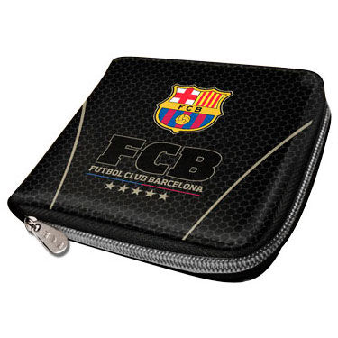 Billetero FC Barcelona Black zipper 8435376394220