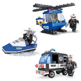 Assorted police vehicles game building