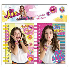 Soy Luna blister with 2 assorted A7 notebook