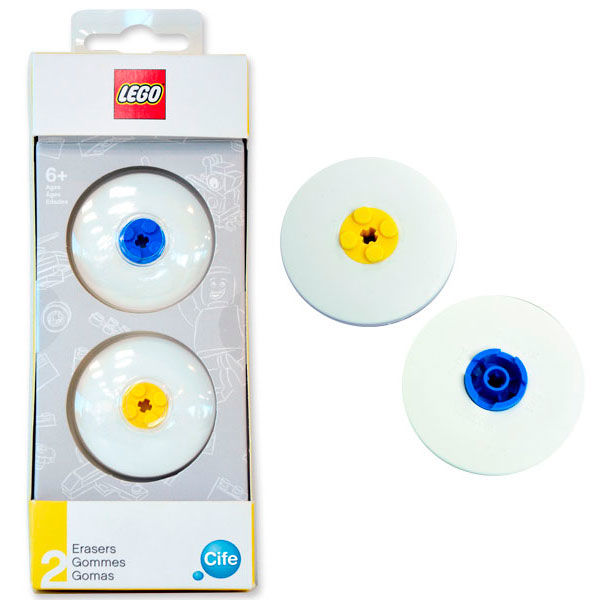 2 Piezas Lego 4895028515188 Pack 2 Gomas Borrar Lego