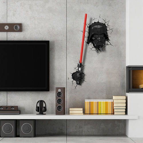 Lampara Led 3d Pared Darth Vader Star Wars Disney