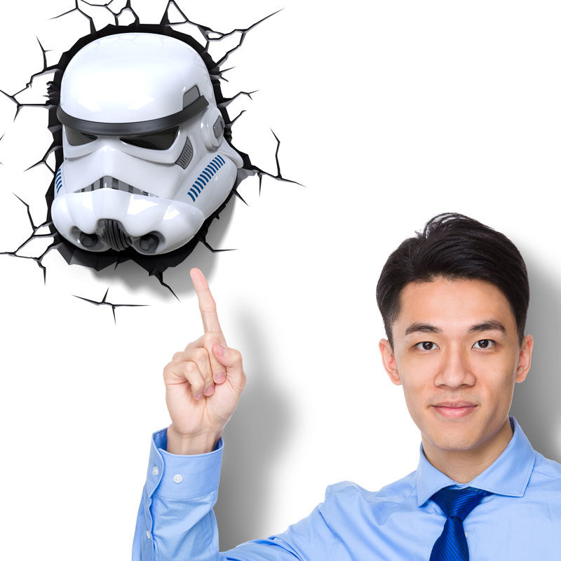 Lampara led 3D pared Stormtrooper Star Wars (2)