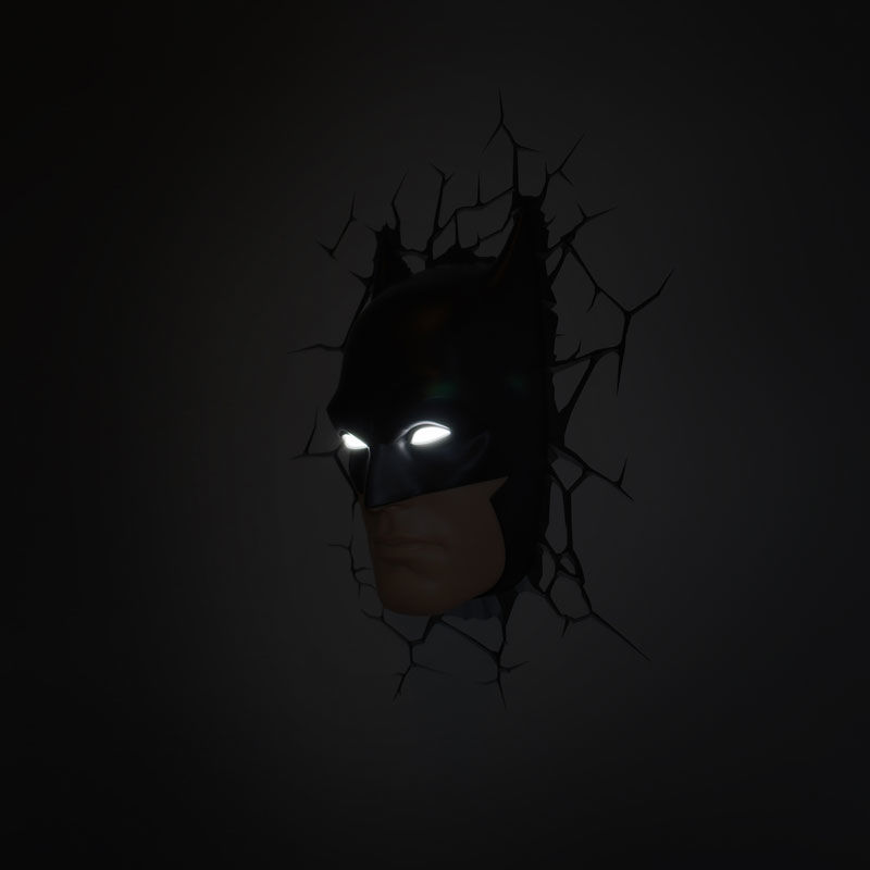 Dc comics batman mask 3d led wall light aloadofball Choice Image