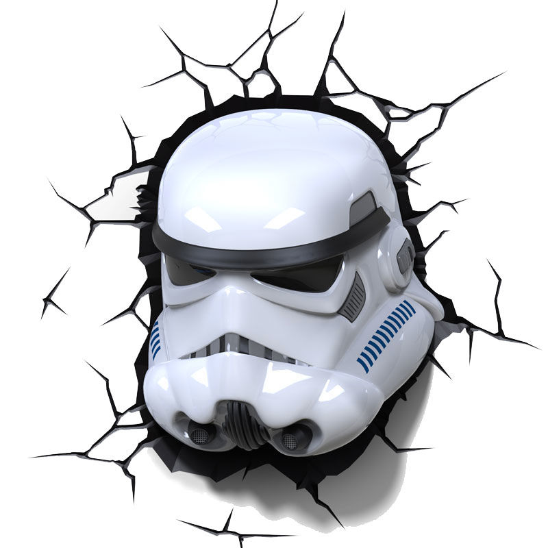 Lampara led 3D pared Stormtrooper Star Wars