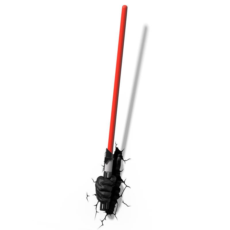 Lampara led 3D pared Sable Darth Vader Star Wars Disney