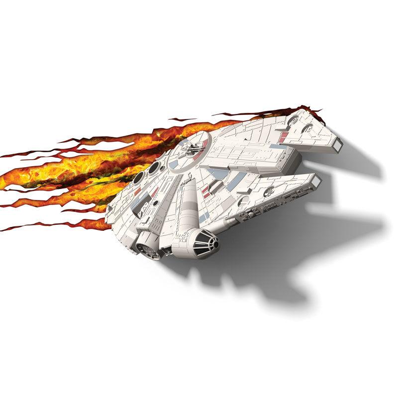 Lampara led 3D pared Halcon Milenario Star Wars Disney