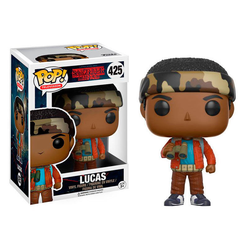 Figura POP Stranger Things Lucas con Binoculares