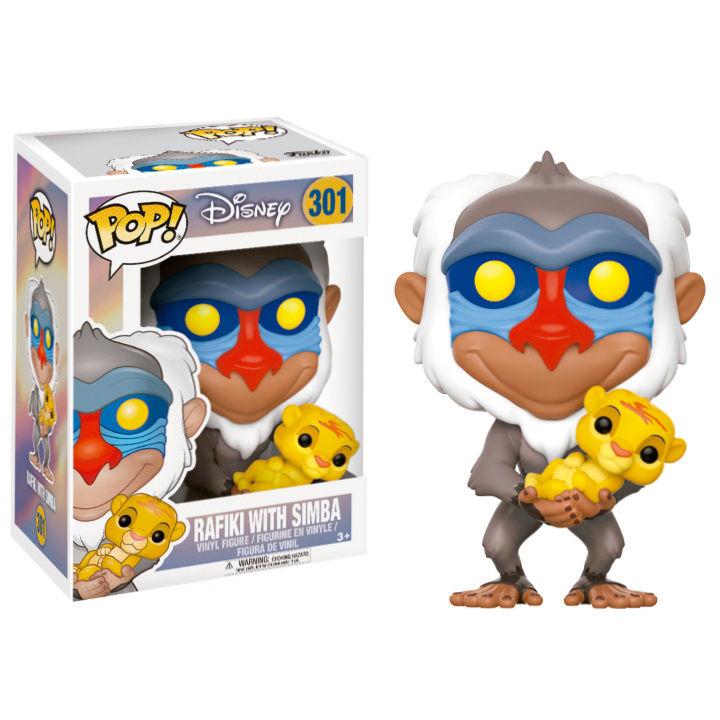 Funko POP o Figura POP Disney El Rey Leon Rafiki con Simba