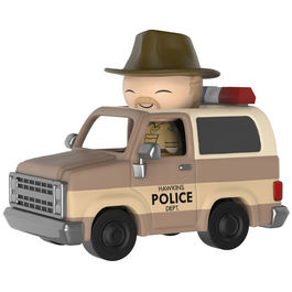 Figura Dorbz Ridez Stranger Things Hopper and Sheriff Deputy Truck