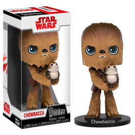 Figura Wobbler Star Wars Episode VIII The Last Jedi Chewbacca With Porg
