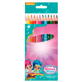 Blister 12 lapices colores Shimmer y Shine
