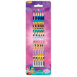 Blister 5 lapices Shimmer y Shine