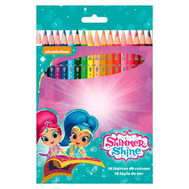 Blister 18 lapices colores Shimmer y Shine