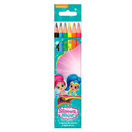 Blister 6 lapices colores Shimmer y Shine