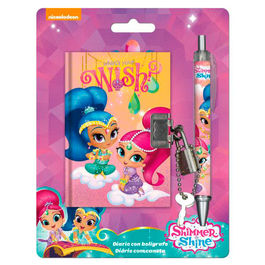 Shimmer and Shine diary + pen