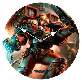 Reloj pared Blood Angels Warhammer 40,000 cristal
