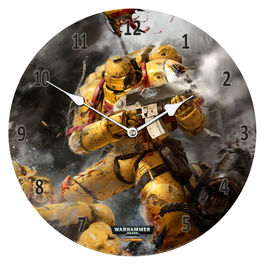Reloj pared Imperial Fists Warhammer 40,000 cristal