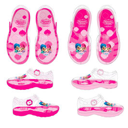 Shimmer and Shine assorted jelly shoes