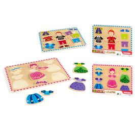 Assorted princess prince wood puzzle 12pzs
