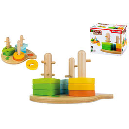 Wooden shapes fit game