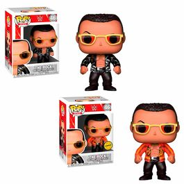 Figura POP! WWE The Rock Old School Series 6 5 + 1 Chase