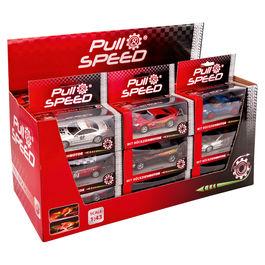 Assorted Pull Speed Sport car blister