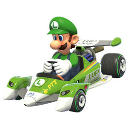 Nintendo Pull Speed Mario Kart 8 Circuit Special Luigi car box
