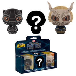 Pack 3 figuras Pint Size Marvel Black Panther