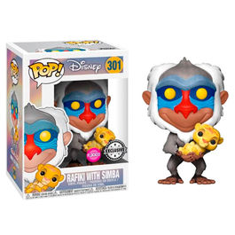 POP! figure Disney The Lion King Rafiki with Baby Simba Flocked Exclusive