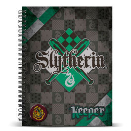 Cuaderno A4 Harry Potter Quidditch Slytherin