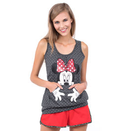 Pijama Minnie Disney Bright sin mangas adulto