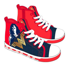 DC Comics Wonder Woman shoe canvas half boot with lights
