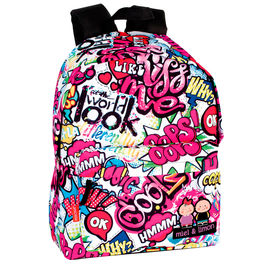 Mochila Perona Miel & Limon Kiss Me 42cm adaptable
